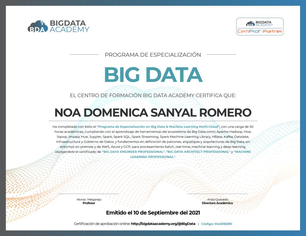 certificado big data peru con certiprof